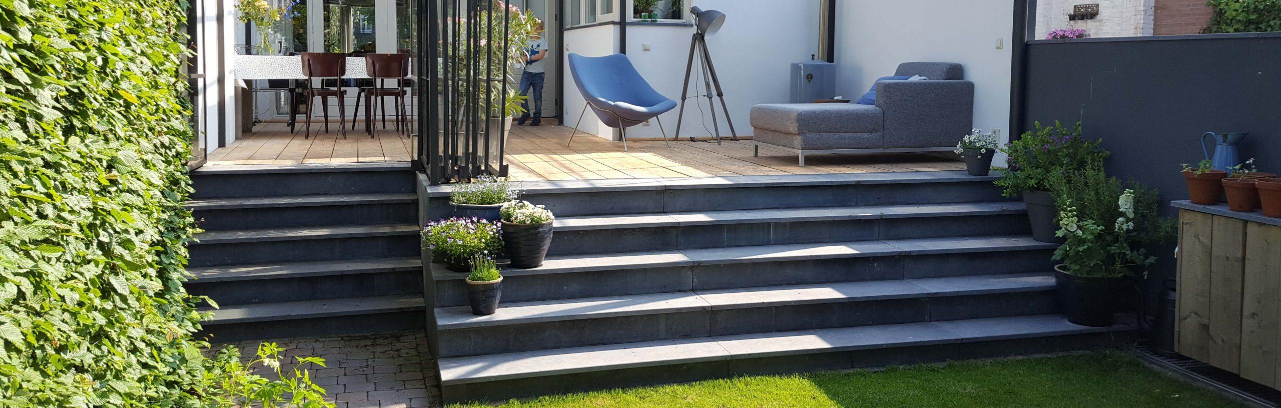 trap natuursteen grijs