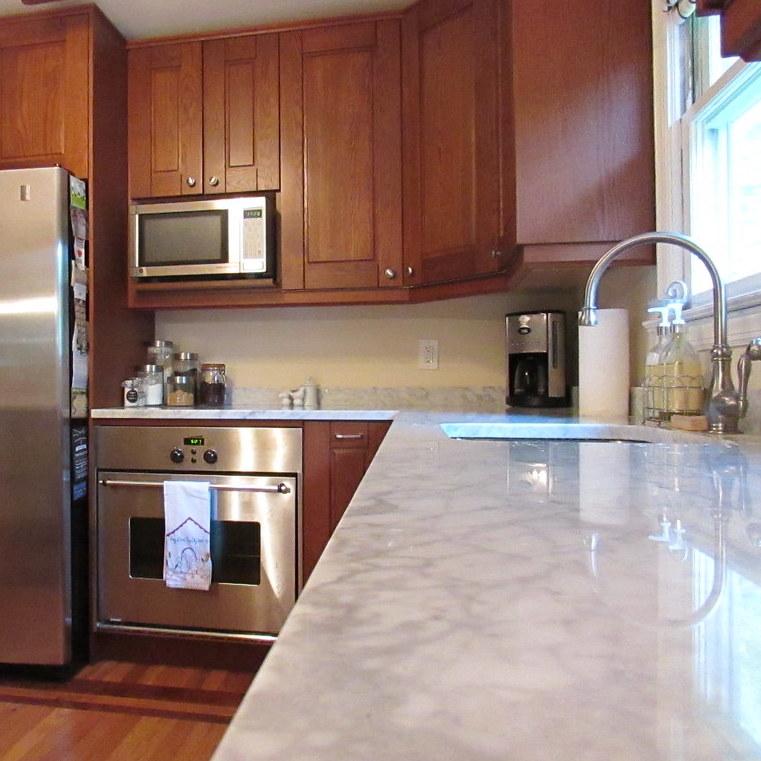 marmer aanrechtblad in de keuken